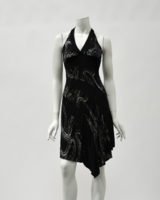 La Belle Black & Silver Dress Size Small