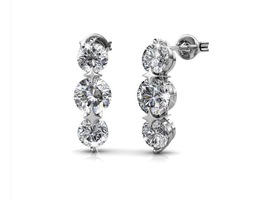 "Ellie ""Light"" 18k white gold Swarovski earrings"