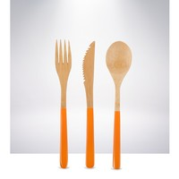 Core Bamboo 3 Piece Cutlery Set - Mandarin Orange