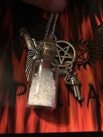 Salt Jar and Charm Necklace