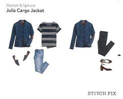 Market & Spruce  Julia cargo jacket