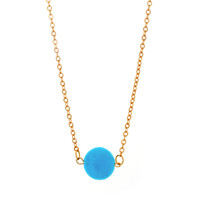 "Tatiana ""Bliss"" 18k Yellow Gold Plated Turquoise Necklace"