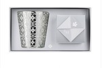 Rose et Marius cabanoun platinum & rose wine candle set