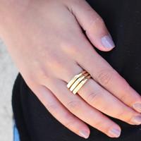 """Kara """"Pristine"""" Stacked Ring Set"""