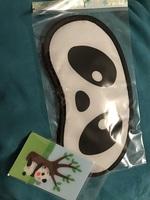 Panda sleep mask and holographic card