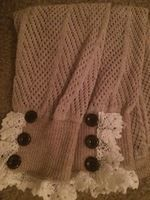 Oatmeal & Lace 3 Button Boot Cuffs