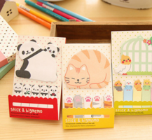 Cat Sticky Notepad & Markers