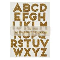 Gold Glitter Alphabet Stickers