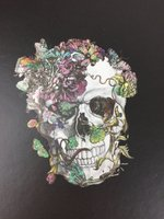 D.L. & Co Flourished Skull Journal
