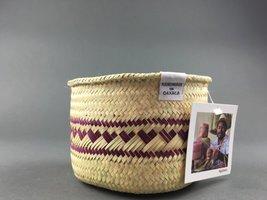 Heart woven basket