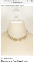 Sarah Coventry swirl rhinestones necklace
