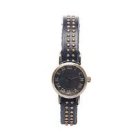 Vianova Black Circle Studded Wrap Watch