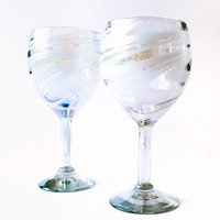 Hand Blown Wine Glasses (set of 2)