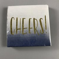 Cheers Gold Foil Cocktail Napkins