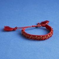 Deepa Gurnani Velvet Bracelet