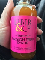Liber & Co Tropical Passion Fruit Syrup