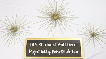 DIY Starburst Wall Decor