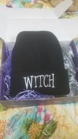 Spooky box club witch beanie hat