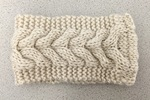 KNIT CABLE HEADBAND OATMEAL COLOR $18