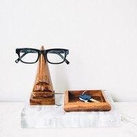 Rosewood Nose Glasses Holder