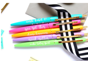 Taylor Elliott Designs Motivational Pen Set