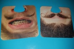Silly face coasters