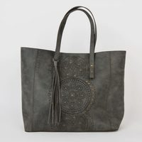 T-Shirt And Jeans Moroccan Muse Tote In Slate