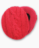 Cable Knit Red Earbags