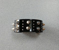 JewelMint Black Spike Cuff Bracelet