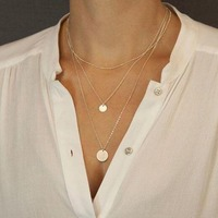 Gold stunning layered necklace