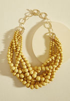 Burst Your Bauble Necklace in Mustard Retro Pin Up Rockabilly Modcloth Stylish Surprise