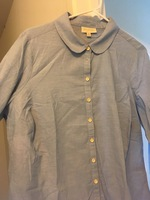 Chambray style button down top
