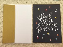 Glad you were born card