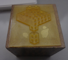 Minecraft Tree Large Rubber Stamp & Stamp Pad