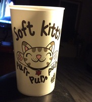 The big bang theory soft kittty pur pur cup