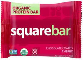 SquareBar Chocolate Coated Cherry Organic Protein Bar