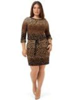 London Times embellished neck blouson dress 18W