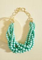 Burst Your Bauble Necklace in Aqua