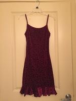 Red velvet dress, size S