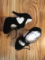 Qupid Black Heels size 7.5 / Modcloth Stylish surprise