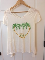 Modcloth stylish surprise super soft t-shirt small