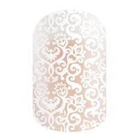 Jamberry White Romance Nail Wraps