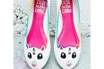 Cute to the Core Uniponi Flats White