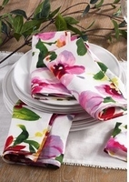 Four Pretty Linen Napkins
