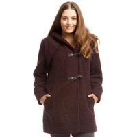 Jessica Simpson Hooded Toggle Coat in Boysenberry