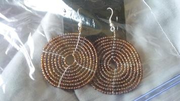 Awaken Box Seedbead Brown Bead Earrings