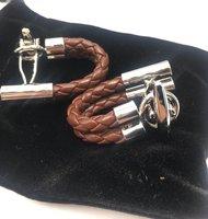 Defimed Men Leather Cufflinks