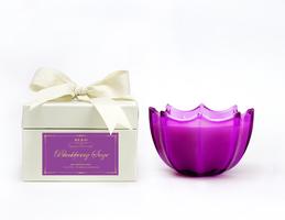 D. L. & Co. Large Purple Scallop Blackberry Sage Candle