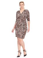 kiyonna ciara cinch dress in leopard print