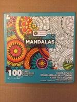 100 Piece Color-a-Puzzle Jigsaw Puzzle - Mandalas